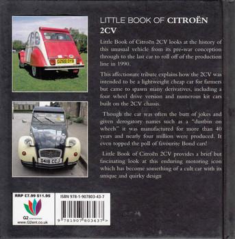 Little Book Of Citroen 2CV  - back