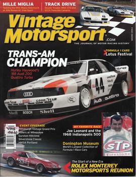 Vintage Motorsport Magazine Nov/Dec 2010 - The Journal of Motor Racing History