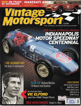 Vintage Motorsport Magazine May/Jun 2009 - The Journal of Motor Racing History