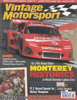 Vintage Motorsport Magazine Nov/Dec 2007 - The Journal of Motor Racing History