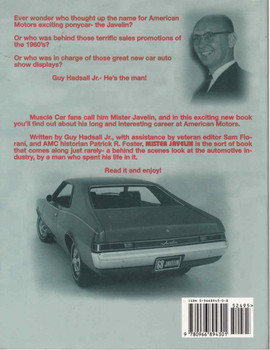 Mister Javelin: Guy Hadsall Jr. at American Motors (9780966894301) - back