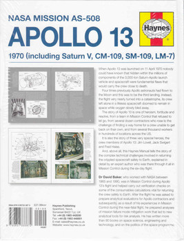 NASA Mission AS-508 Apollo 13 1970 Owners' Workshop Manual Back