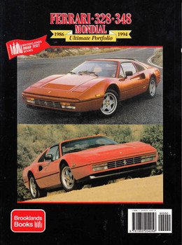 Ferrari 328 348 Mondial 1986 - 1994 Ultimate Portfolio (9781855204256) - back