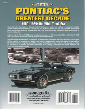 Pontiac's Greatest Decade 1959 - 1969: The Wide Track Era An Illustrated History (9781583881637)  - back