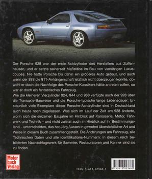 Porsche 928 Die technische Dokumentation des Transaxle-Achtzylinders (German) (9783613023680)  - back