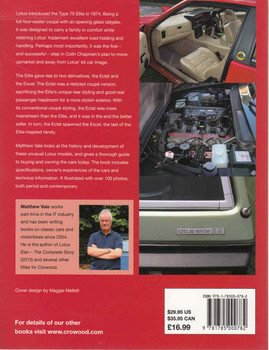 Lotus Elite, Eclat and Excel: An Enthusiast's Guide (9781785000782) - back