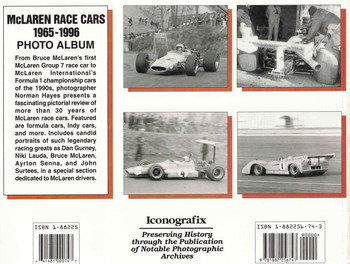 McLaren Race Cars 1965 - 1996 Photo Album ( 9781882256747) - back
