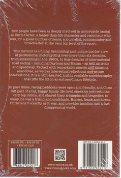 Chris Carter at Large - Stories from a Lifetime in Motorcycle Racing back cover
