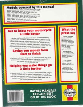 Honda XL / XR 250 & 500 1978 - 1984 Workshop Manual Back