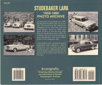 Studebaker Lark 1959 - 1966 Photo Archive (9781583881071) - back