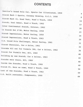 Scarab Cars (Unique Motor Books) (1841554146) - cont