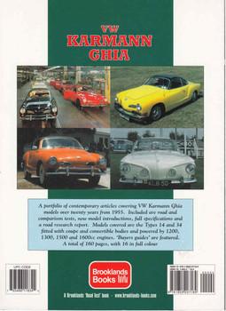 VW Karmann Ghia Gold Portfolio 1955 - 1974 ( 9781855207189) - back