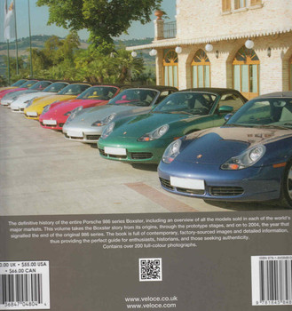 Porsche Boxster The 986 Series 1996 - 2004 (9781845848040) - back