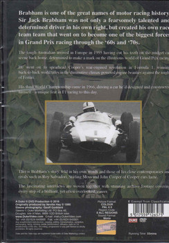 Champion Brabham: Profile of a Legend DVD (5017559126575) - back