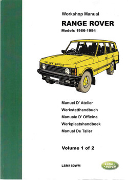 Range Rover Models 1986 - 1994 Workshop Manual (2 Volume Set)