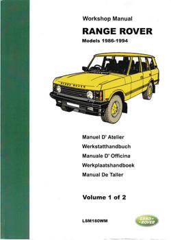 Range Rover Models 1986 - 1994 Workshop Manual (2 Volume Set)