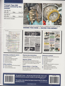 Triumph Tiger 800 2010 - 2019 Workshop Manual (9780857337528)