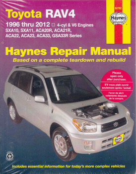 Toyota RAV4 1996 - 2012 Workshop Manual (9781620921043)