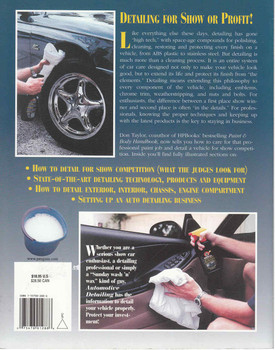 Automotive Detailing: A Complete Car Care Guide For Auto Enthusiasts And Detailing Professionals (075478012886) - back