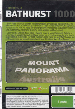 Highlights of Bathurst 1000 1993 1994 DVD (9398710613094) - back