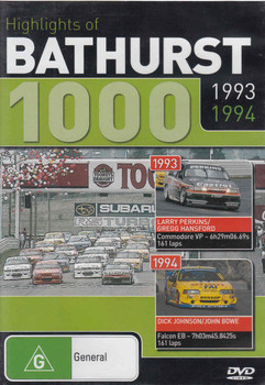 Highlights of Bathurst 1000 1993 1994 DVD (9398710613094) - front