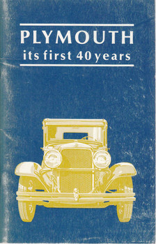 Plymouth : Its First 40 Years (b003467v7c)  -