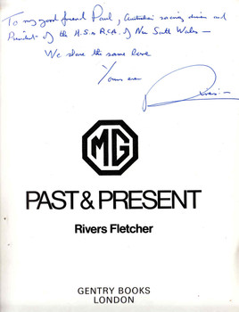 MG Past & Present (Signed by Author + Memorabilia)