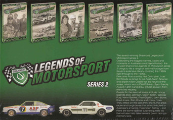 Legends Of Motorsport: Series 2 - 12 Episodes 6 DVD Box Set Back