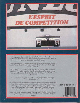Jaguar: Sports Racing and Works Competition Cars from 1954 (First Edition) (9780854293193) back