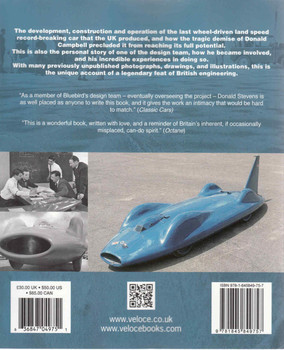 Bluebird CN7: The Inside Story Of Donald Campbell's Last Land Speed Record Car (Veloce Classic Reprint Series) (9781845849757) (back)