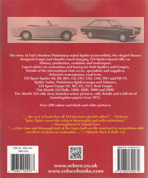 Fiat & Abarth 124 Spider & Coupe (Veloce Classic Reprint) (9781845849979) back
