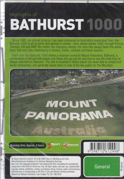 Highlights of Bathurst 1000 1991 1992 DVD Back Cover