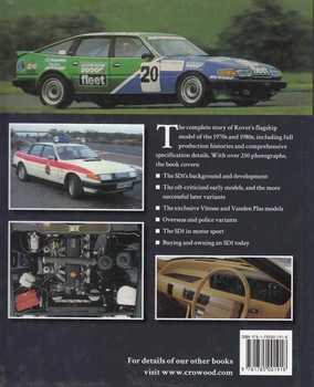 Rover SD1 The Full Story 1976 - 1986 (9781785001918) - back
