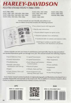 Harley-Davidson FLS / CXS Evolution 1984 - 1999 Workshop Manual Back