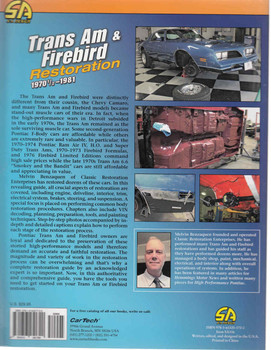 Trans Am & Firebird Restoration 1970 1/2 - 1981 (9781613251720) - back