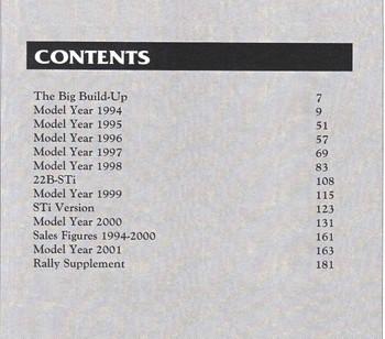 Subaru WRX (Marque Classic Series) (9780947079703) (back)