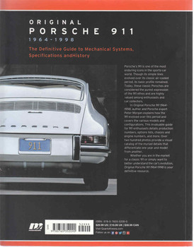 Original Porsche 911 1964 - 1998 (Paperback Reprint) (9780760352090)  - back