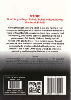 Royal Enfield All Indian 350, 500 & 535 Singles: The Essential Buyer's Guide (9781845849405 - back