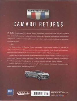 Camaro 2016: Chevrolet's Modern performance Car (9780760349816)  - back