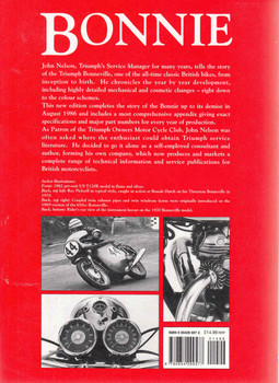 Bonnie: The Development History Of The Triumph Bonneville (2nd Edition) (9780854299577) - back