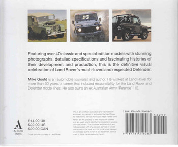 Defender: Land Rover's Legendary Off-Roader (9781781316283) - back