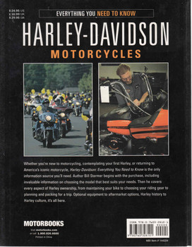 Everything You Need To Know: Harley-Davidson Motorcycles (9780760328101) - back