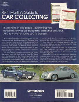 Keith Martin's Guide To Car Collecting (First Edition) (9780760328958) - back