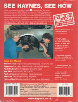 BMW 3 Series E90 / E91 Sept 2008 - Feb 2012 Petrol & Diesel Workshop Manual (9780857339010) - back