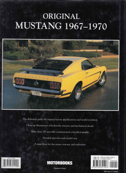Original Mustang 1967 -1970 The Restorer's Guide (9780760321027)  - back