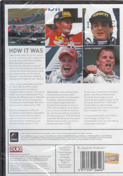 Formula 1 : How It Was DVD (5017559126407) - back