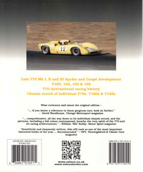 Lola T70 : The Racing History & Individual Chassis Record (Veloce Classic Reprint Series) (9781787110519)  - back