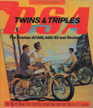 BSA Twins & Triples : The Postwar A7/A10, A50/65 and Rocket III (Mercian Reprint) (9781903088364) - front