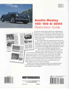 Austin-Healey 100 / 100-6 / 3000 Restoration Guide (9780760306734) - back