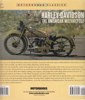 Harley-Davidson: The American Motorcycle (Paperback Edition) (9780760316511) - back